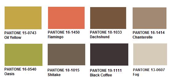 DyeNet pantone pallets Pantone Color Chart Brown